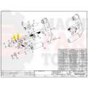 """Dekka - Roller Shaft, 3"""" Threaded 29-332, Z29-332"""