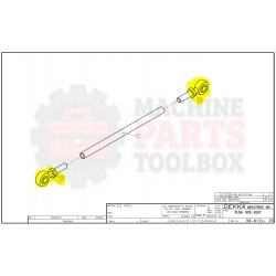 Dekka - Bearing, Rod End Male 02-156, Z02-156