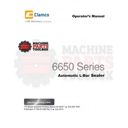 Clamco - 6650 Series Automatic L-Bar Sealer - Manual and Parts Drawings