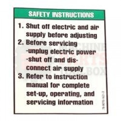 3M  Label - Safety Instructions  #78-8070-1621-3