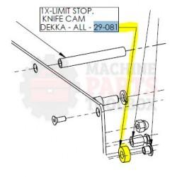 Dekka - Stop, Polyurethane, Knife Cam Limit Stop 29-081, Z29-081