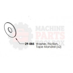 Dekka - Washer, Friction Tape Mandrel - # 29-085