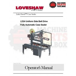 Loveshaw - LD24 Uniform Side Belt Drive Fully Automatic Case Sealer - Manual and Parts Drawings