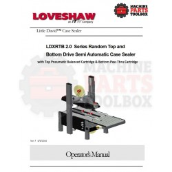 LDXRTB 2.0 with Pass Thru Semi Automatic Case Sealer - Manual and Parts Drawings