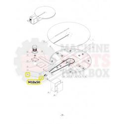 Eagle - Adjustment Screw (main motor) - # M10x50