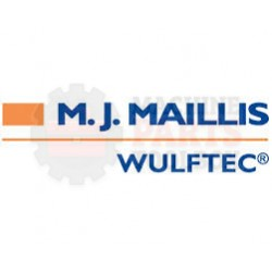 Wulftec - (Big) M.J. Maillis Sticker White/Orange (Horizontal) - # 0ELAB00271 *CONTACT MPT FOR PRICING AND LEAD TIME.*