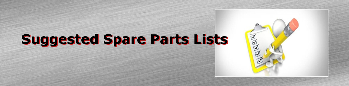 Suggested Spare Parts Lists
